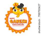 cute ganesha illustration for... | Shutterstock .eps vector #700702627