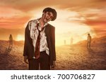 aggressive asian zombies with...   Shutterstock . vector #700706827