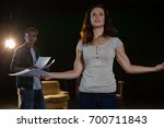 artists rehearsing on stage in... | Shutterstock . vector #700711843