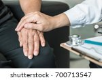 geriatric doctor consulting and ...   Shutterstock . vector #700713547