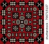 vector tribal ethnic pattern.... | Shutterstock .eps vector #700715137