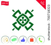 geometric oriental pattern.... | Shutterstock .eps vector #700718323