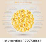 complex of vitamins. all the... | Shutterstock .eps vector #700728667