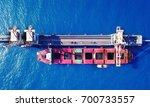 large bulk carrier ship docking ... | Shutterstock . vector #700733557