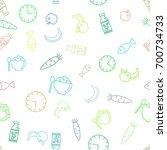 vector food illustration.... | Shutterstock .eps vector #700734733
