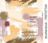 brush strokes seamless pattern. ... | Shutterstock .eps vector #700737763