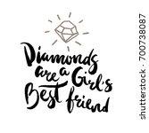 lettering poster girls best...   Shutterstock .eps vector #700738087