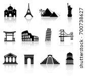 landmarks icons   Shutterstock .eps vector #700738627