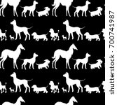 seamless pattern with white... | Shutterstock .eps vector #700741987