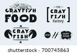 vector seafood labels  hand... | Shutterstock .eps vector #700745863