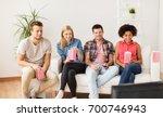 friendship  junk food  people... | Shutterstock . vector #700746943