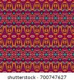 ethnic tribal festive pattern... | Shutterstock .eps vector #700747627