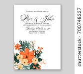 wedding invitation or card with ... | Shutterstock .eps vector #700748227