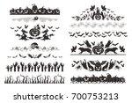 halloween dividers collection....   Shutterstock . vector #700753213