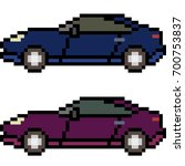vector pixel art car isolated | Shutterstock .eps vector #700753837