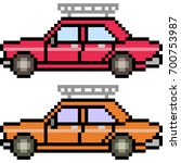 vector pixel art car isolated | Shutterstock .eps vector #700753987