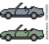 vector pixel art car isolated | Shutterstock .eps vector #700754053