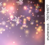 vector snowflakes falling ... | Shutterstock .eps vector #700764877