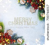 holiday background  greeting... | Shutterstock . vector #700766017
