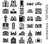 building icons set. vector... | Shutterstock .eps vector #700769653