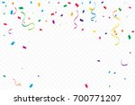 many falling colorful tiny... | Shutterstock .eps vector #700771207