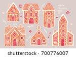 Gingerbread Houses Set. Cute...