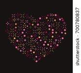 heart shape made of color stars ... | Shutterstock .eps vector #700780837