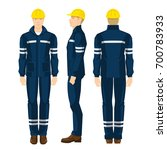 man worker in protective... | Shutterstock .eps vector #700783933