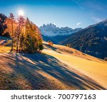 bright view of santa magdalena... | Shutterstock . vector #700797163