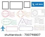 blank postal stamps set...