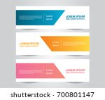 set of modern colorful business ... | Shutterstock .eps vector #700801147
