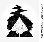 tree magic tattoo and t shirt... | Shutterstock .eps vector #700802737