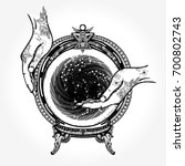 magic ball tattoo and t shirt... | Shutterstock .eps vector #700802743