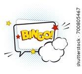 bingo comic text isolated on... | Shutterstock .eps vector #700805467