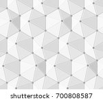 white shaded abstract geometric ... | Shutterstock . vector #700808587
