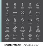set of raster barber shop... | Shutterstock . vector #700811617