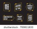 typographic quote template.... | Shutterstock . vector #700811833