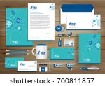 digital tech corporate identity ... | Shutterstock .eps vector #700811857