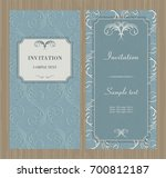 wedding card or invitation with ... | Shutterstock .eps vector #700812187