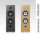 acoustic speakers. vector...   Shutterstock .eps vector #700813387