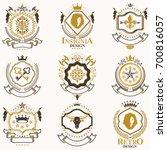 classy heraldic coat of arms.... | Shutterstock . vector #700816057