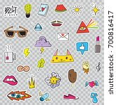 set of patches elements like... | Shutterstock . vector #700816417