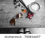 travel accessories of smart... | Shutterstock . vector #700816657