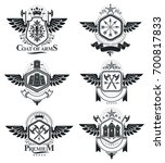 vintage heraldry design... | Shutterstock . vector #700817833
