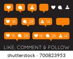 raster like  follower  comment... | Shutterstock . vector #700823953