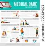 medical care infographics... | Shutterstock .eps vector #700824073