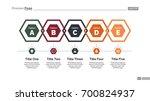 five hexagons diagram slide... | Shutterstock .eps vector #700824937
