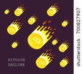 bitcoin declined this week.... | Shutterstock .eps vector #700827907