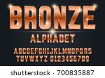 bronze bold typeface set style... | Shutterstock .eps vector #700835887