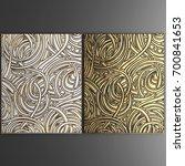 3d wall art  picture of gold... | Shutterstock . vector #700841653